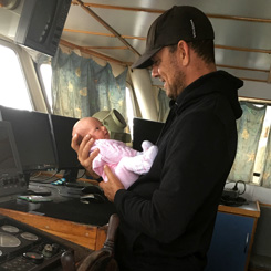 Michael Wiseman and his baby girl.