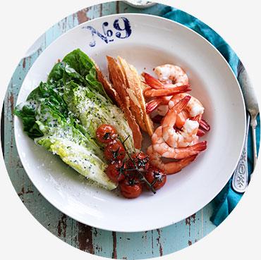 Prawn recipe - Modern Prawn Caesar Salad