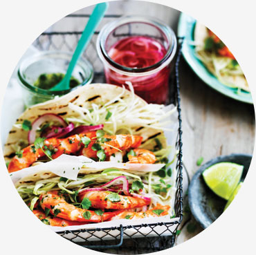 Prawn recipe - Prawn Tacos with Pickled Jalapeno Salsa