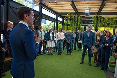 Provenance technology project launch in Melbourne Oct 2019 by Senator the Hon 'Jonno' Duniam, Federal Assistant Minister for Forestry and Fisheries