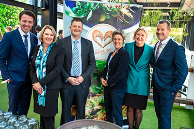 Senator the Hon 'Jonno' Duniam, Federal Assistant Minister for Forestry and Fisheries, ACPF Chair Annie Jarrett, ACPF EO Rachel King, Dr Janet Howieson, Curtin University